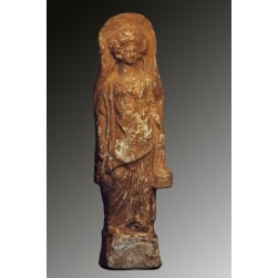 Large terracotta standing female