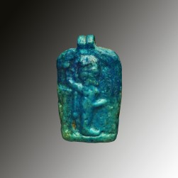 Faience plaque Min