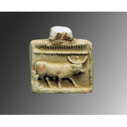 Faience Naos with Apis bull