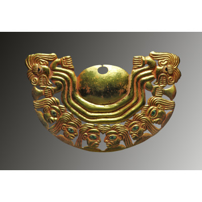 Moche golden Nose ornament