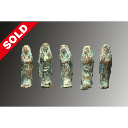 Group terracotta shabtis