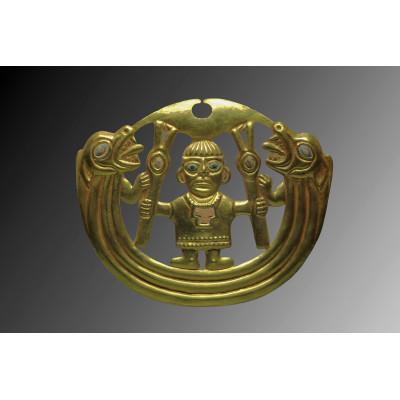 Golden Moche nose ornament