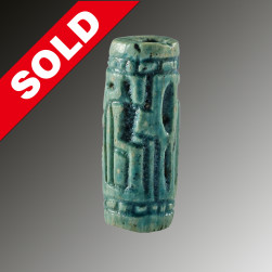 Faience cylinder seal